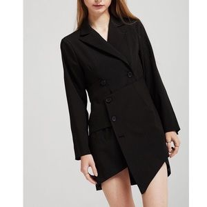 Storets Emery asymmetrical hem blazer mini dress